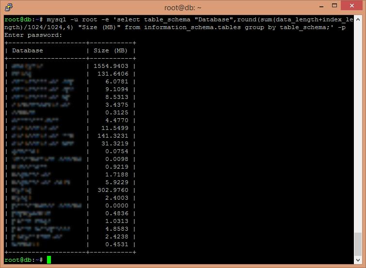 Datenbanken & Speichergrößen