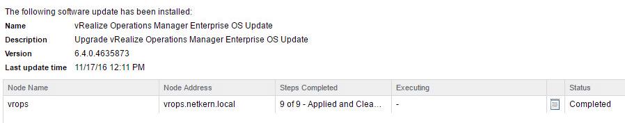 VA-OS 6.4 Upgrade: Done.