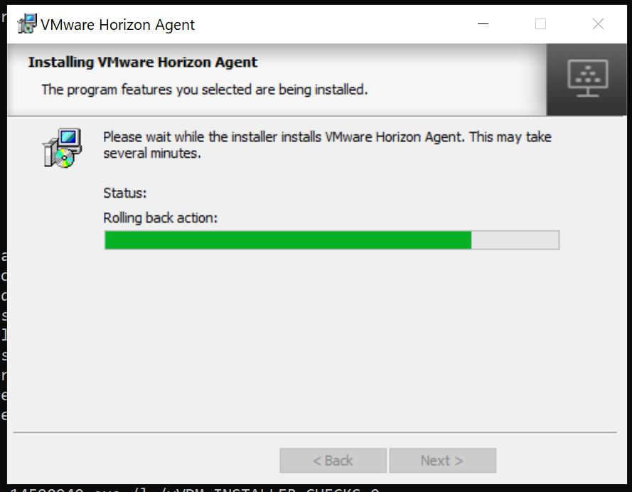 Horizon Agent: Rollback.