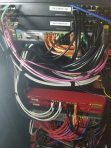 Network - back-side of the rack